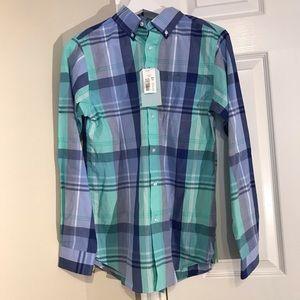 Class Club Aqua LongSleeve Button Down Shirt